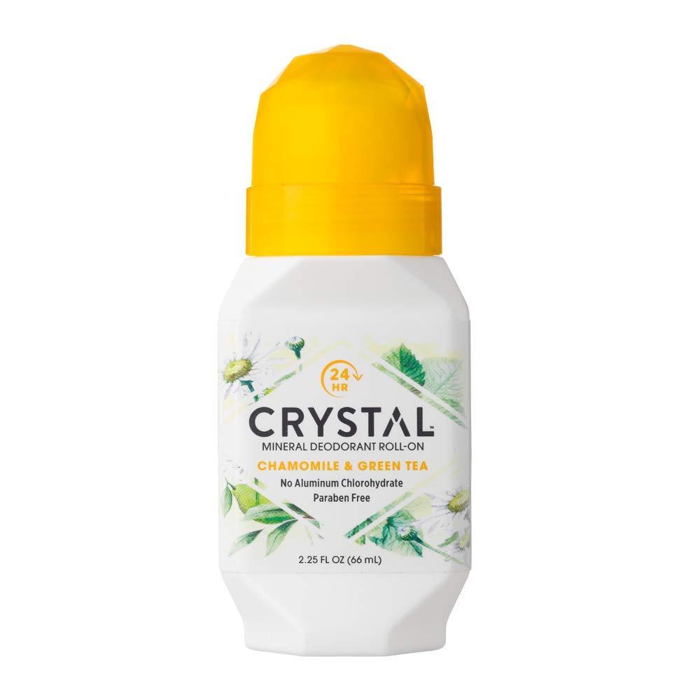 Дезодорант Crystal Deodorant Roll-On, 66ml: Chamomile & Green Tea (с экстрактом ромашки и зелёного чая)