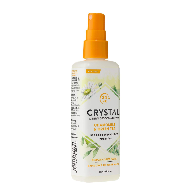 Дезодорант Crystal Deodorant Spray, 118 ml: Chamomile & Green Tea (c экстрактом ромашки и зелёного чая)