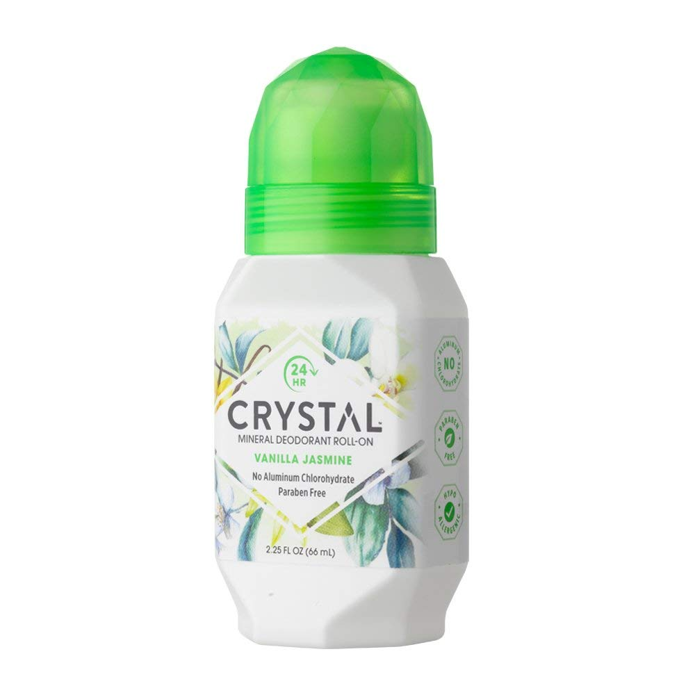 Дезодорант Crystal Deodorant Roll-On, 66 ml: Vanilla Jasmine (с экстрактом ванили и жасмина)