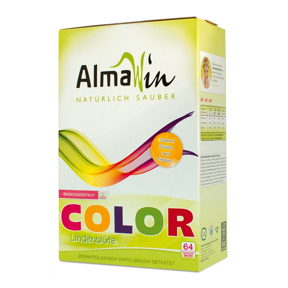 Порошок для стирки цветных вещей COLOR AlmaWin, 2 кг